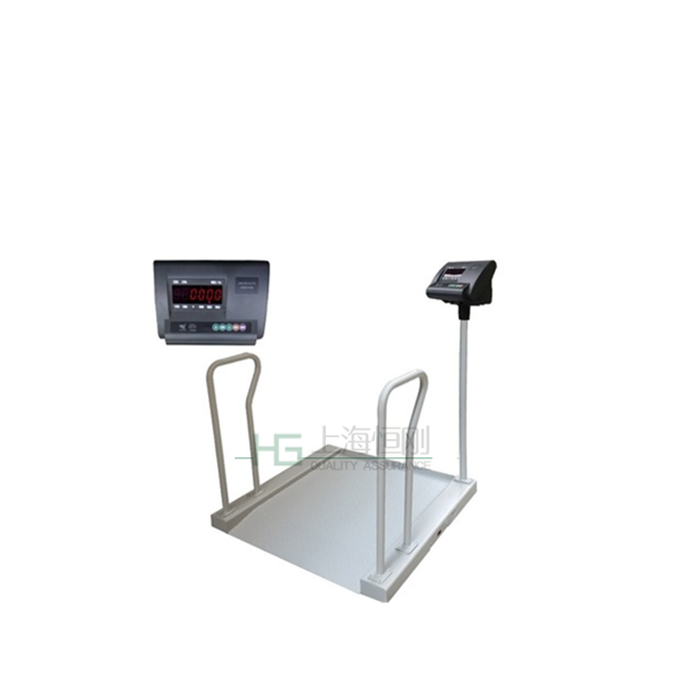 200kg医院透析轮椅秤厂家 碳钢带斜坡电